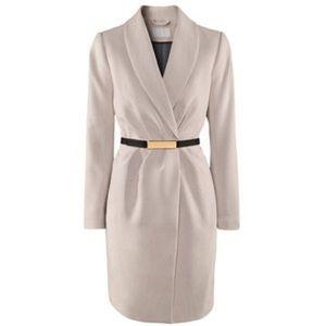 H&M wrap coat Beige Cream Gold ✨